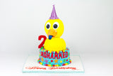 3D Duck Shaped Birthday Cake
