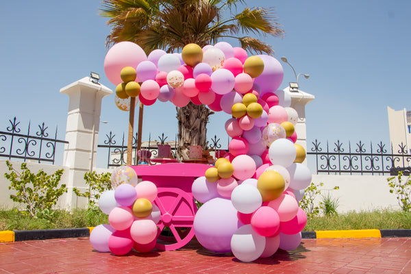 Pink Balloon Cart