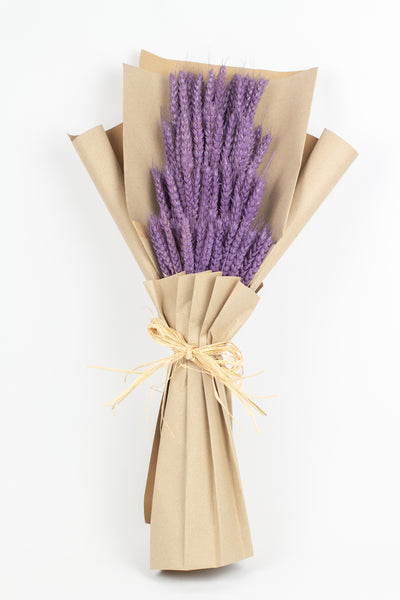 Purple Wheat Bouquet