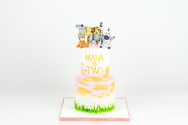 Wild Animals Birthday Cake