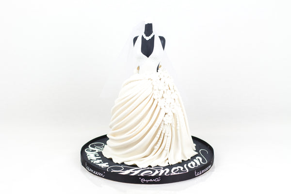 White Bridal Dress cake