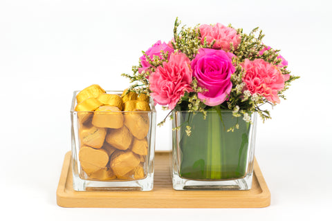 Flower & Chocolates in a Tray