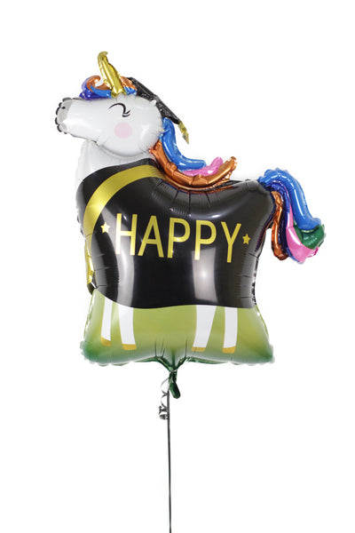 Happy Unicorn Foil Balloons