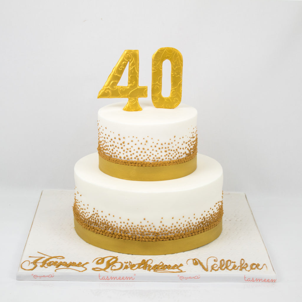 40th Birthday Cake Tasmeem