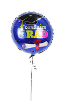 Blue Graduation Foil Balloon