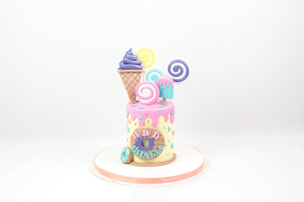 Ice Cream Birthday Cake - كيكة يوم ميلاد