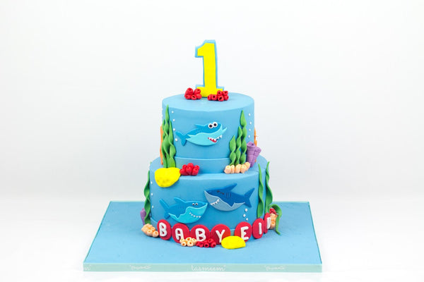 Two Tiered Under the Sea Cake