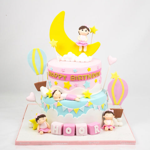 Two Tiered Kid's Birthday Cake
