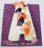 Single Letter Shaped Cake