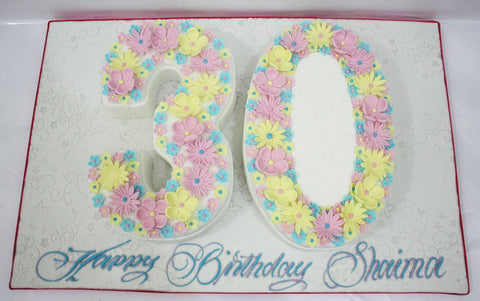 Double Number Shaped Cake