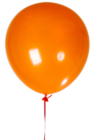"12"" Orange Latex Balloon"