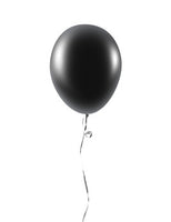 12 Inches Black Latex Balloons, its a good choice for black color  lover