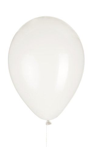 "12"" White Latex Balloon"
