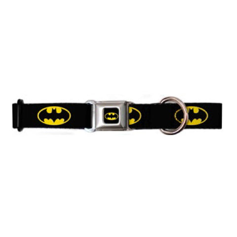 Batman Shield Black/Yellow Dog Collar
