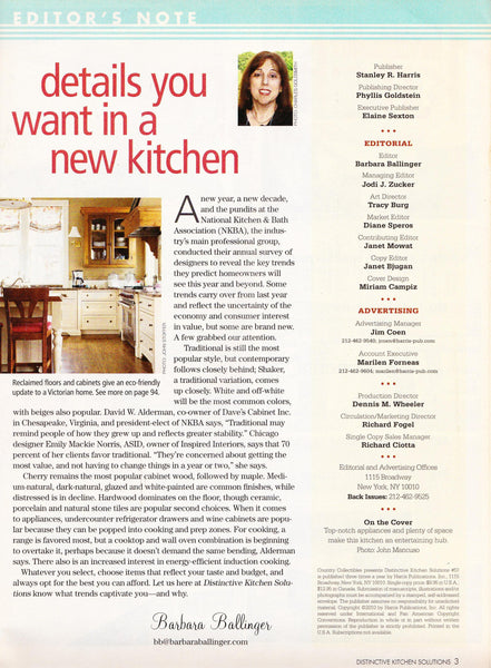 Distinctive Kitchen Magazine