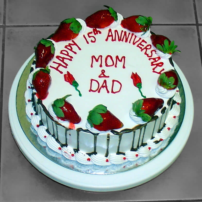 Excellent Mom Dad Anniversary Fruit Rashmis Bakery Personalised Birthday Cards Arneslily Jamesorg