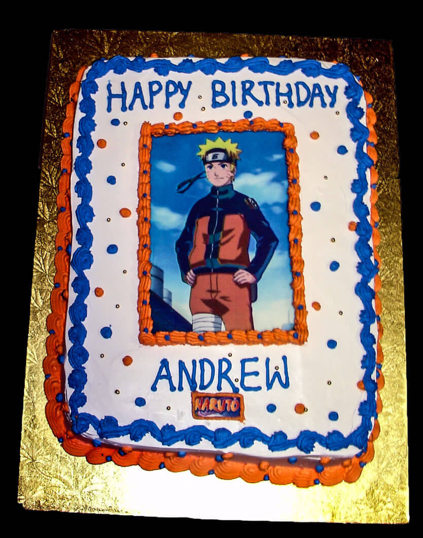 Admirable Andrew Naruto Photo Rashmis Bakery Personalised Birthday Cards Sponlily Jamesorg