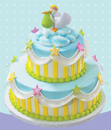 Delivery Stork Baby Shower Tiered