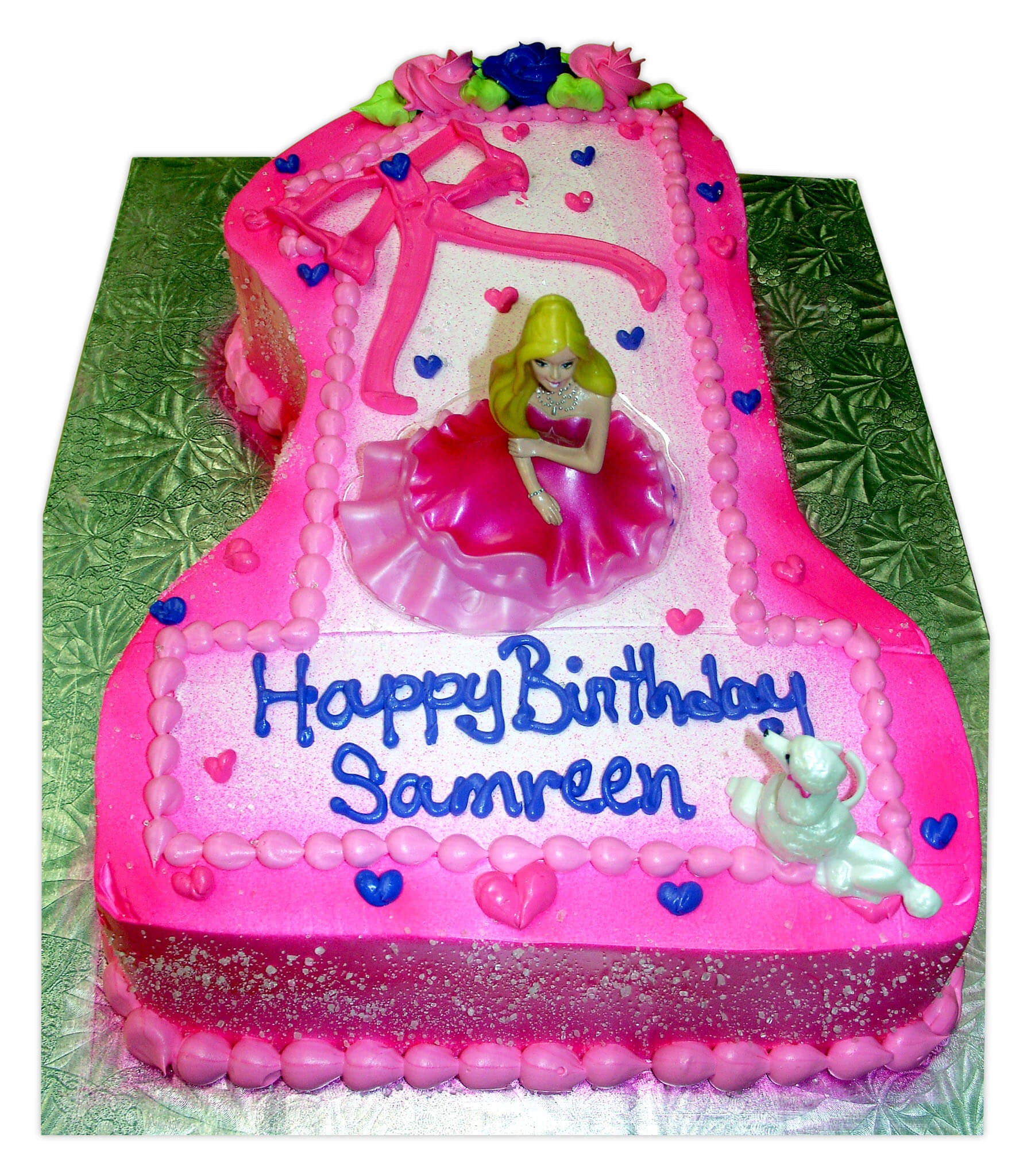 Barbie 1st Birthday Molded Cake