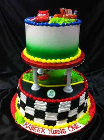 Cars 2 Tiered Cake