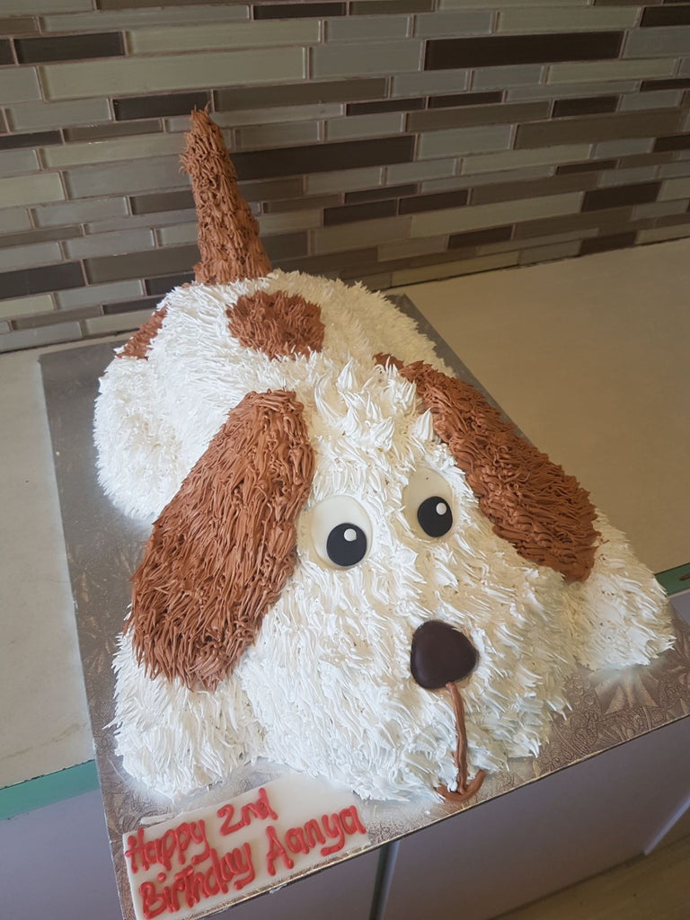 how to make a 3d dog cake