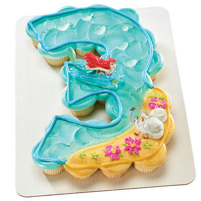 Fine 3Rd Birthday The Little Mermaid Ariel And Scuttle Cupcakes Funny Birthday Cards Online Alyptdamsfinfo