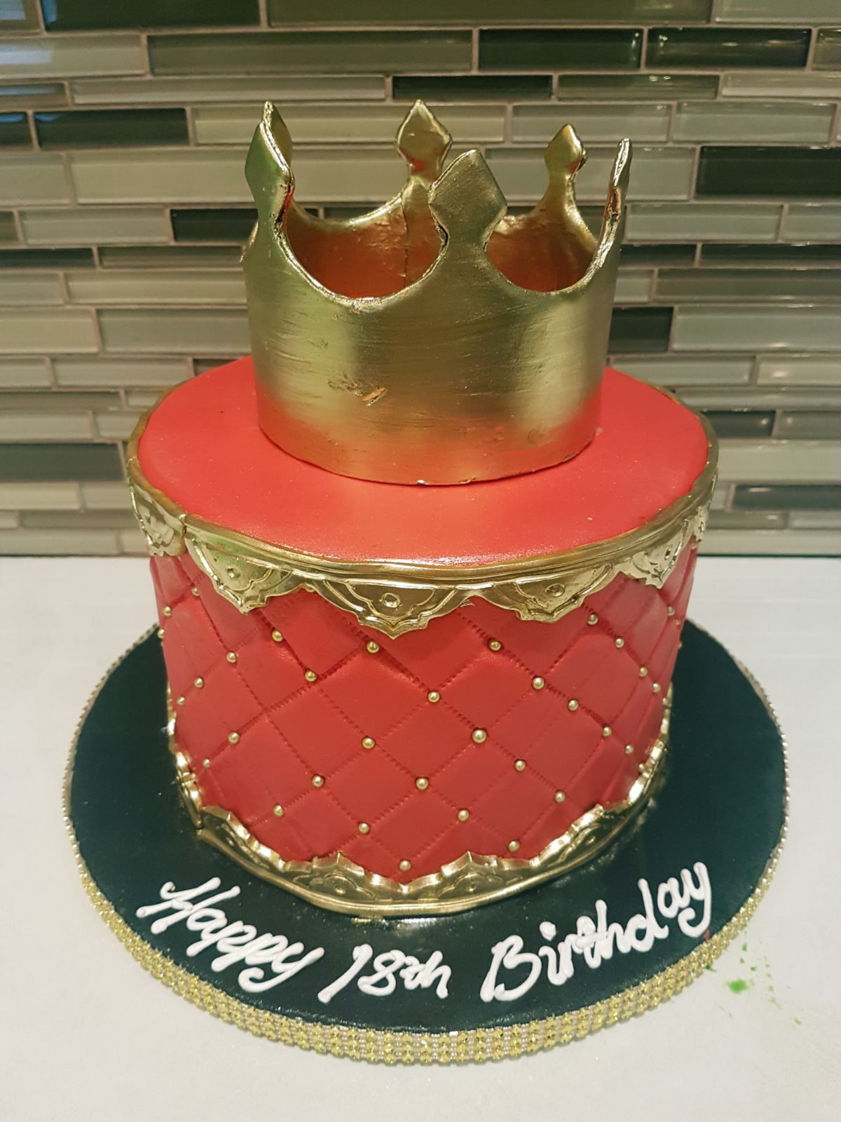 Astonishing Roop 18Th Birthday Cake Rashmis Bakery Personalised Birthday Cards Veneteletsinfo