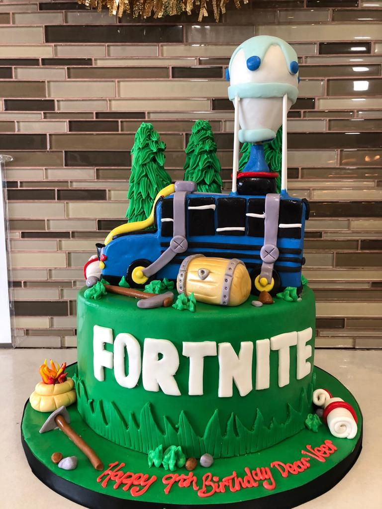 Fortnite Fondant Birthday cake - Rashmi's Bakery