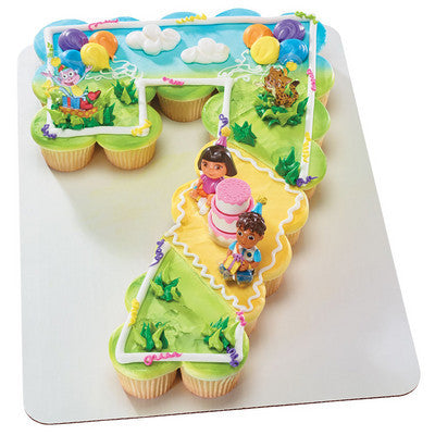 Outstanding 7Th Birthday Dora The Explorer Birthday Celebration Cupcakes Funny Birthday Cards Online Alyptdamsfinfo
