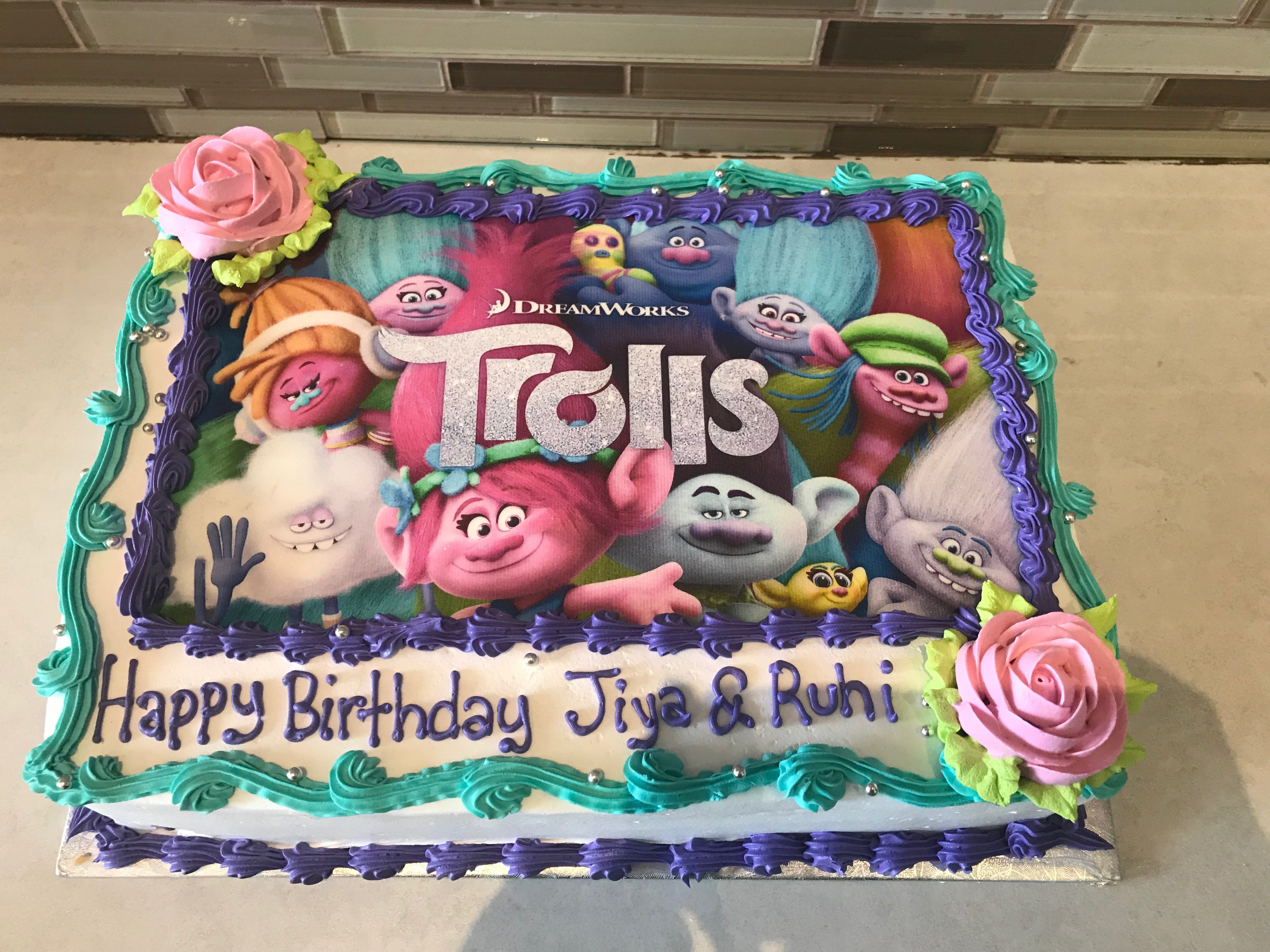 Trolls Photo Cake - Rashmi's Bakery