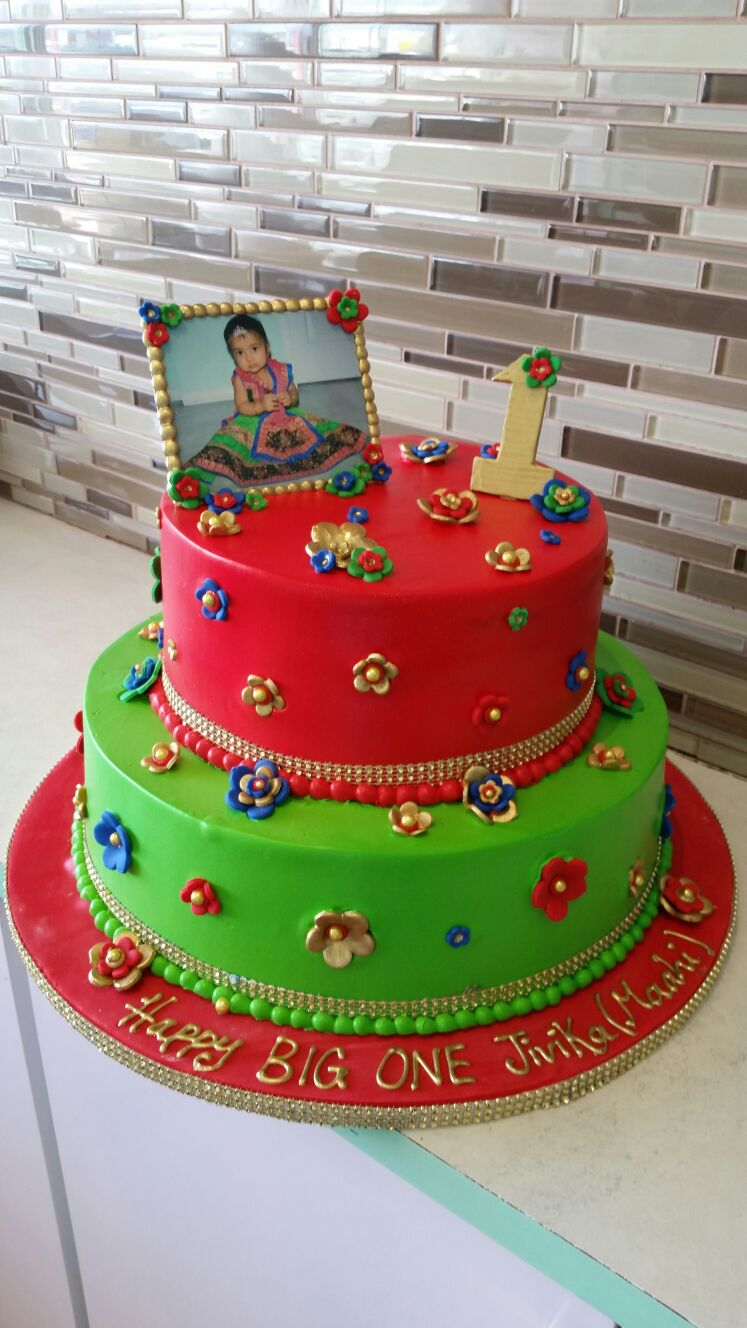 Remarkable Jivika Tiered Birthday Cake Rashmis Bakery Funny Birthday Cards Online Inifofree Goldxyz
