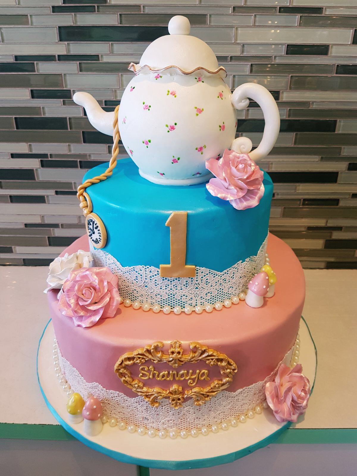 Fabulous Alice In Wonderland Birthday Cake Rashmis Bakery Personalised Birthday Cards Cominlily Jamesorg