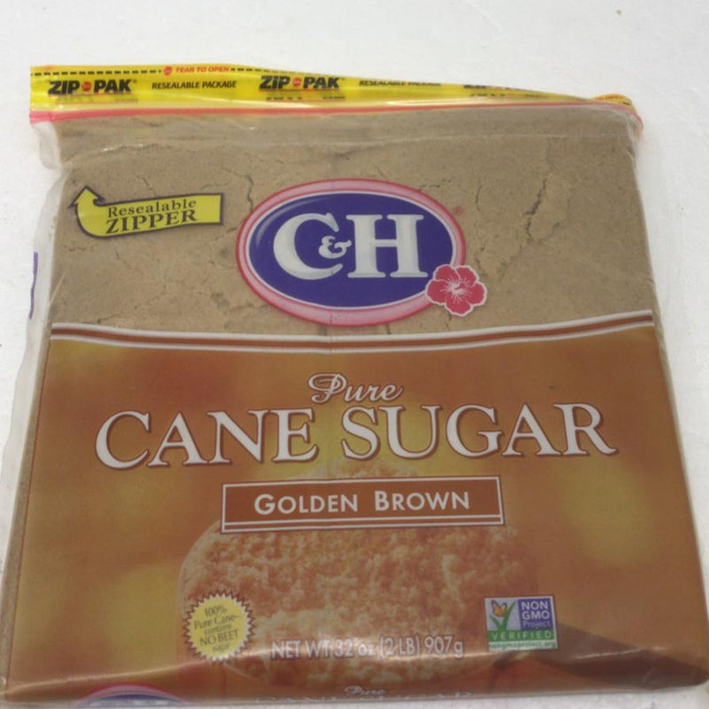 C&H Pure Cane Sugar Golden Brown 2 LB
