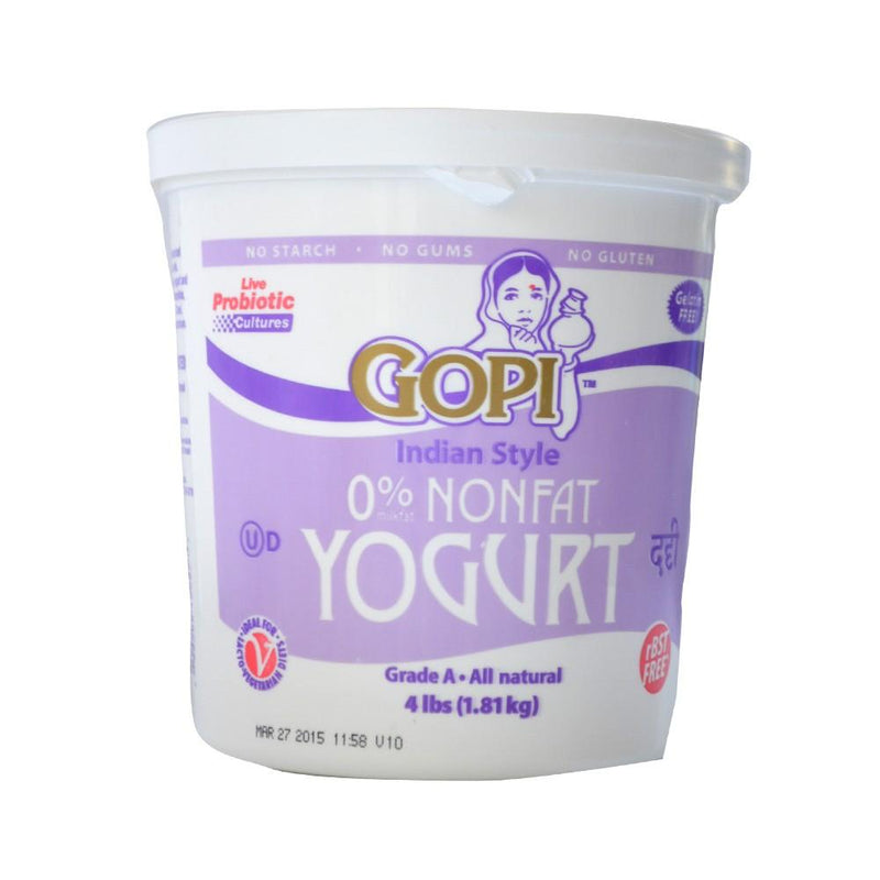 Gopi 0% Non Fat Yogurt 4LB