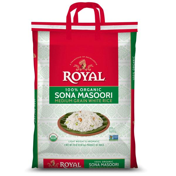 Royal Organic Sona Masoori Rice 20LB