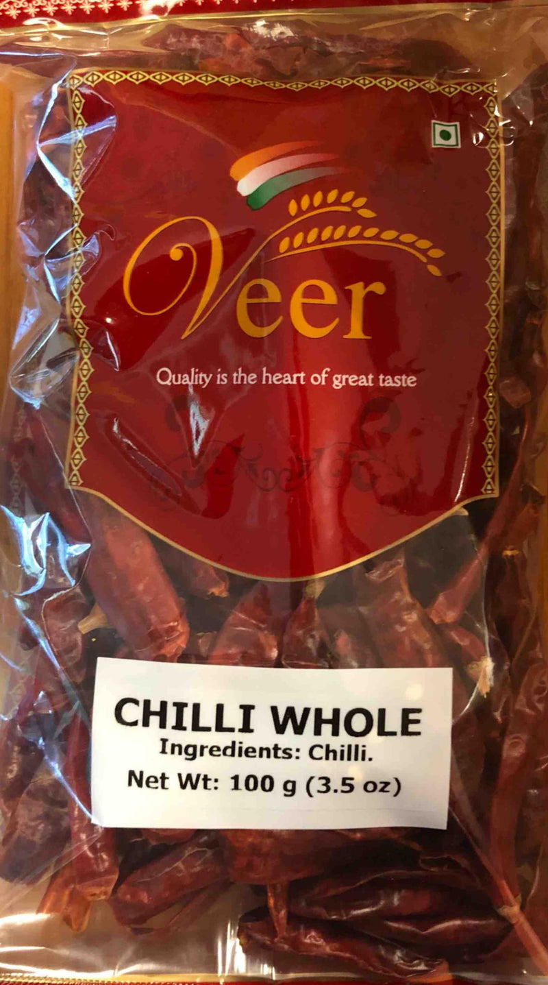 Veer Chilli Whole 100GM
