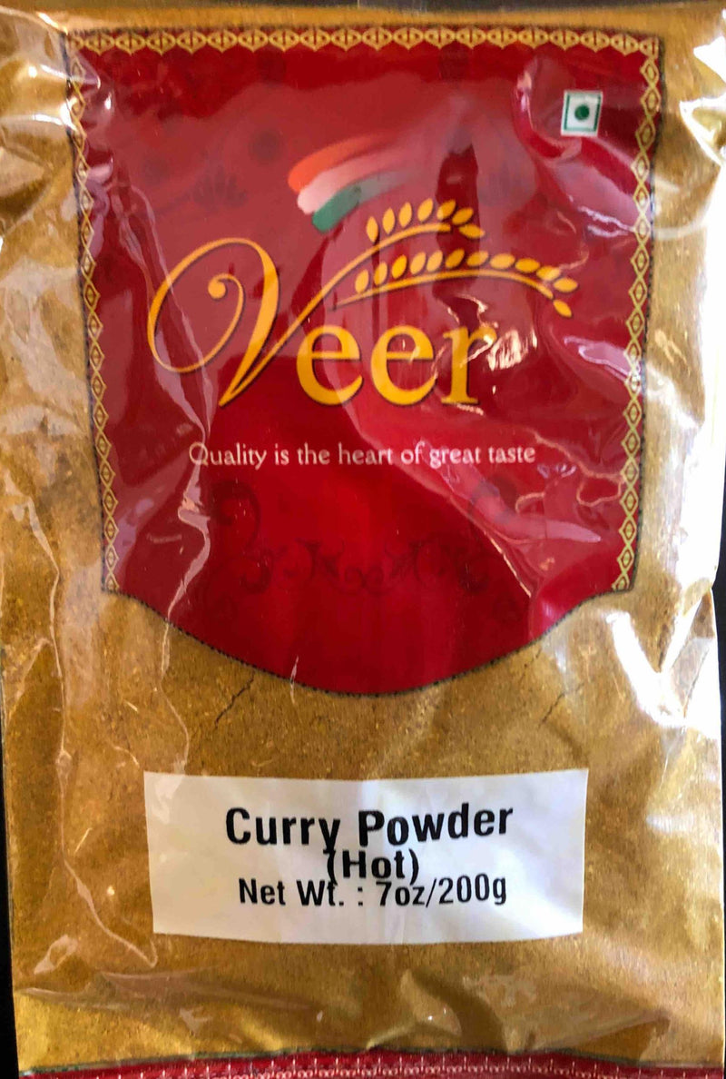 VEER CURRY POWDER(HOT) 200 GM