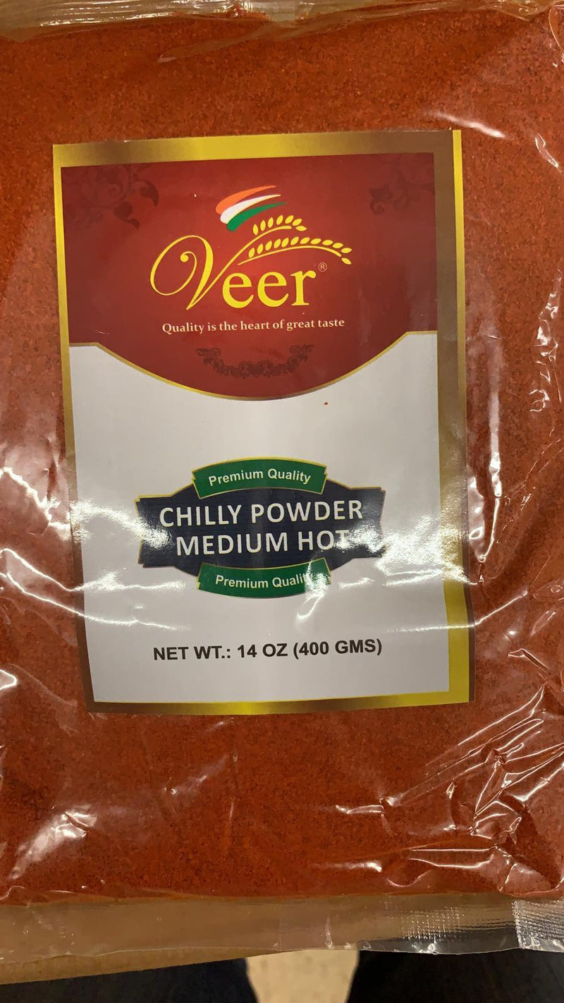 Veer Chilly Powder Medium Hot 400GM