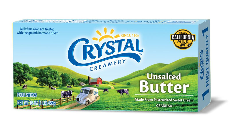Crystal Unsalted Butter 1LB