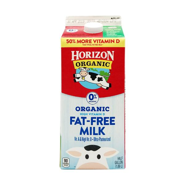 Horizon Organic Fat Free Milk 1.89L