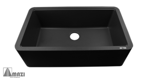 Granite Composite Apron Farm Sink ITAF100 59 Antracite (Black)