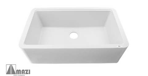 Granite Composite Apron Farm Sink ITAF100 68 Titiano (White)