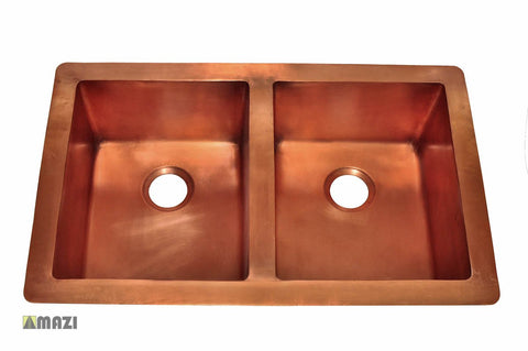 Copper Kitchen Sink 1553_TH