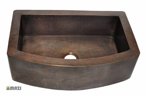 Copper Kitchen Sink 1652_F