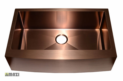 Stainless Steel Handmade Color Kitchen Sink AC1013 Copper Color