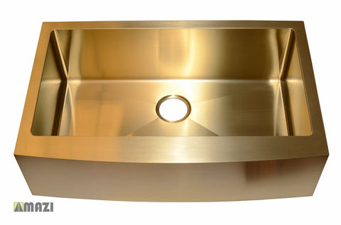 Stainless Steel Handmade Color Kitchen Sink AC1013 Gold Color