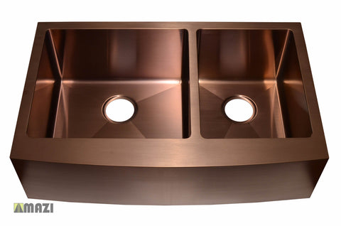 Stainless Steel Handmade Color Kitchen Sink AC2002 Copper Color