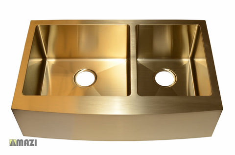 Stainless Steel Handmade Color Kitchen Sink AC2002 Gold Color
