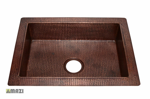 Copper Kitchen Sink CKS2519
