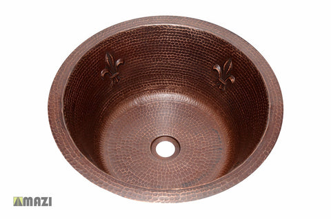Copper Bathroom Sink CRBSFDL17